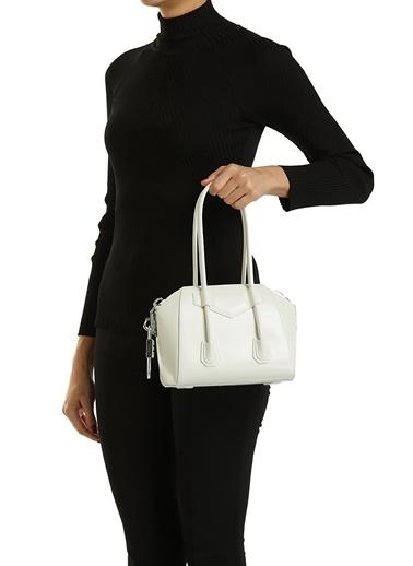 Givenchy Givenchy Mini Antigona  Kadın Deri Omuz Çantası 101611428 Beyaz